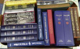 FOLIO SOCIETY. PEPYS DIARIES, pub Folio Society 1996, 3 vol set. LEON WOLFF - IN FLANDERS FIELDS,