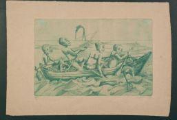 UNATTRIBUTED FOUR ARTIST SIGNED LIMITED EDITION ETCHINGS Three of Africa figures, the other of a