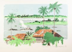 UNATTRIBUTED PAIR OF ARTIST SIGNED LIMITED EDITION COLOURED LITHOGRAPHS Congo River and Grand