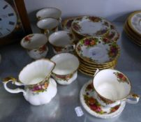 ROYAL ALBERT CHINA, ?OLD COUNTRY ROSES? PATTERN TEA SERVICE FOR SIX PERSONS, 22 PIECES AND AN
