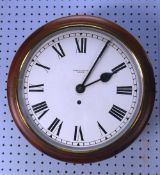 THOMAS SAMPSON, OLDHAM, MAHOGANY STAINED BEECH CASED WALL CLOCK, the 11? Roman dial powered by a