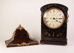 REGENCY DARK STAINED MAHOGANY CASED BRACKET CLOCK, SIGNED GRANT, FLEET ST, LONDON, the 8?