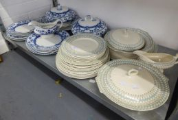 MYOTT SON AND CO., POTTERY 'BONNIE DUNDEE' PATTERN DINNER SERVICE FOR SIX PERSONS WITH BROAD