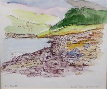 ROY WILSON (TWENTIETH/ TWENTY FIRST CENTURY) TWO WATERCOLOURS Seascape Riverscape Both signed