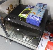 A 'FLUVAL' SQUARE FISH TANK AND ACCESSORIES