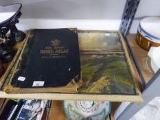 W & AK JOHNSON, ?HANDY WORLD ATLAS?, EARLY 20TH CENTURY AND A COLOUR PRINT AFTER J H CRAIG, ?