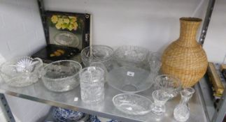 VARIOUS CUT AND MOULDED GLASS, BOWLS AND OTHER ITEMS OF GLASSWARE