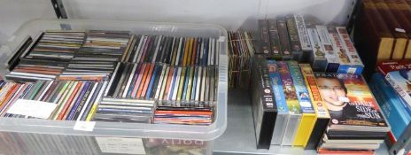 A LARGE SELECTION OF CD's, DVD's AND VIDEOS