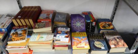 A SELECTION OF BOOKS TO INCLUDE; FOUR HARRY POTTER 1ST EDITIONS, OTHER BOOKS ETC.....