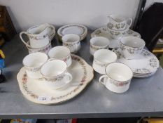 PARAGON ?BELINDA? CHINA TEA SERVICE FOR SIX PERSONS, 21 PIECES AND ROYAL ADDERLEY ?ADELPHI? CHINA