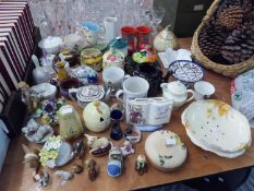 QUANTITY OF CERAMIC MUGS AND TEAPOTS AND TEA WARE; BARROTTS, STAFFORDSHIRE POTTERY PART BREAKFAST