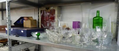 SIX BOXES OF CUT AND OTHER DRINKING GLASSES AND OTHER CUT GLASS WARES
