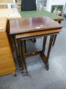 A NEST OF THREE EDWARDIAN TABLES