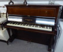 AN EARLY TWENTIETH CENTURY ROSEWOOD CASED UPRIGHT PIANO BY JOHN BROADWOOD, LONDON