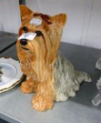 A LARGE BESWICK MODEL OF A SEATED TERRIER