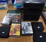 A JVC STACKING STEREO SYSTEM AND A SELECTION OF DVD's