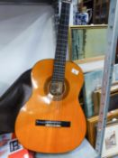 AN ACCOUSTIC GUITAR 'HONDA II' IN FABRIC CASE