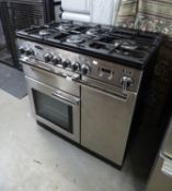 RANGEMASTER PROFESSIONAL GAS AND ELECTRIC COOKER, IN STAINLESS STEEL CASE, WITH FIVE RING HOB, GAS