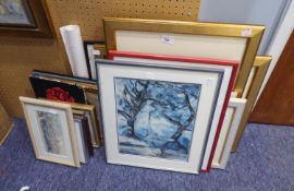 A SELECTION OF VARIOUS PRINTS, FRAMED AND GLAZED
