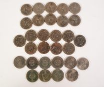 THIRTY QUEEN ELIZABETH II COMMORATIVE CROWN COINS viz 10 relating to Charles and Diana's Wedding