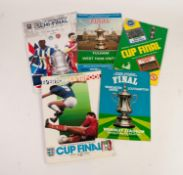 FOUR F.A. CUP FINALS, Everton v Liverpool 1986, Manchester United v Southampton 1976, Manchester
