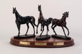 AFTER GILL PARKER BRONZES THREE OF THE ORIGINS OF CHAMPIONS RESPECTIVELY BYERLEY TURK, DARLEY ARABIA