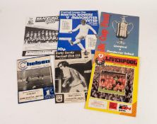 SIX MANCHESTER UNITED AWAY PROGRAMMES, v Bristol Rovers 3rd round League Cup 1972/73, v Bradford