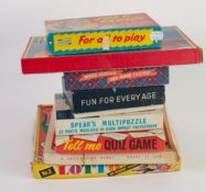 EIGHT CHILDREN'S VINTAGE BOXED GAMES including Philmar Joey The Clown, Ludo, The Merry Game of