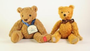 DEANS RAG POST WAR VINTAGE STYLE GOLDEN PLUSH TEDDY BEAR, with articulated head and limbs, shaved