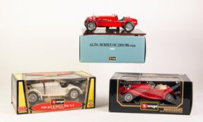 BURAGO MINT AND BOXES 1/18 SCALE DIE CAST MODEL OF A MERCEDES-BENZ SSKL (1931) window box good,