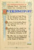 TWO HAND DRAWN ILLUMINATED PRESENTATIONS TO THE REVEREND T.H. DAVENPORT, from grateful