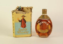 VINTAGE BOTTLE OF JOHN HAIG AND CO., 'DIMPLE' SCOTCH WHISKY, in remnants of original box printed