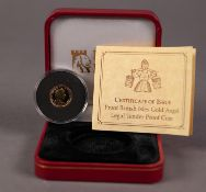 ISLE OF MAN, POBJOY MINT, CASED AND ENCAPSULATED ELIZABETH II LIMITED EDITION GOLD PROOF GOLD