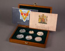 ROYAL MINT LIMITED EDITION, 1945-2005, 60th ANNIVERSARY ?THE ALLIED FORCES SIX COIN SILVER PROOF