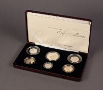 2006 PIEDFORT LIMITED EDITION SEVEN COIN SILVER PROOF SET, including the Queen?s 80th Anniversary
