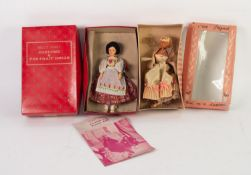 BOXED PEGGY NESBIT COSTUME DOLL, RUSSIA, with an original pamphlet stamped Hamley's, London, box