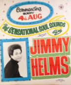 CIRCA 1960's/70's GOLDEN GARTER THEATRE - WYTHENSHAWE front of house poster JIMMY HELMS and