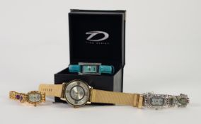LADY'S MARCEL DRUCKER COLLECTION DRESS WRISTWATCH with Japanese quartz movement, mother of pearl