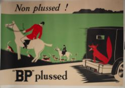 ADVERTISING POSTER. George Bissill (1896-1973), original vintage poster for BP, ??BP?? Plussed,