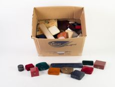 *APPROXIMATELY 50 BOXES FOR JEWELLERY, various, some vintage, including for rings, watches,