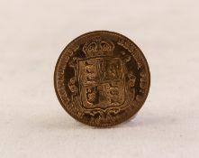QUEEN VICTORIA (1892) GOLD HALF SOVEREIGN, jubilee head, shield back (VF-EF)