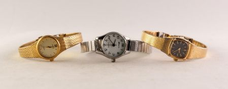 LADY'S SEIKO QUARTZ GOLD PLATED BRACELET WATCH; ANOTHER by Pulsar and a LADY'S PULSAR STAINLESS
