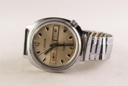 GENT'S LAKASH '25 SPECIAL' SWISS STAINLESS STEEL VINTAGE WRISTWATCH, the silvered circular dial with