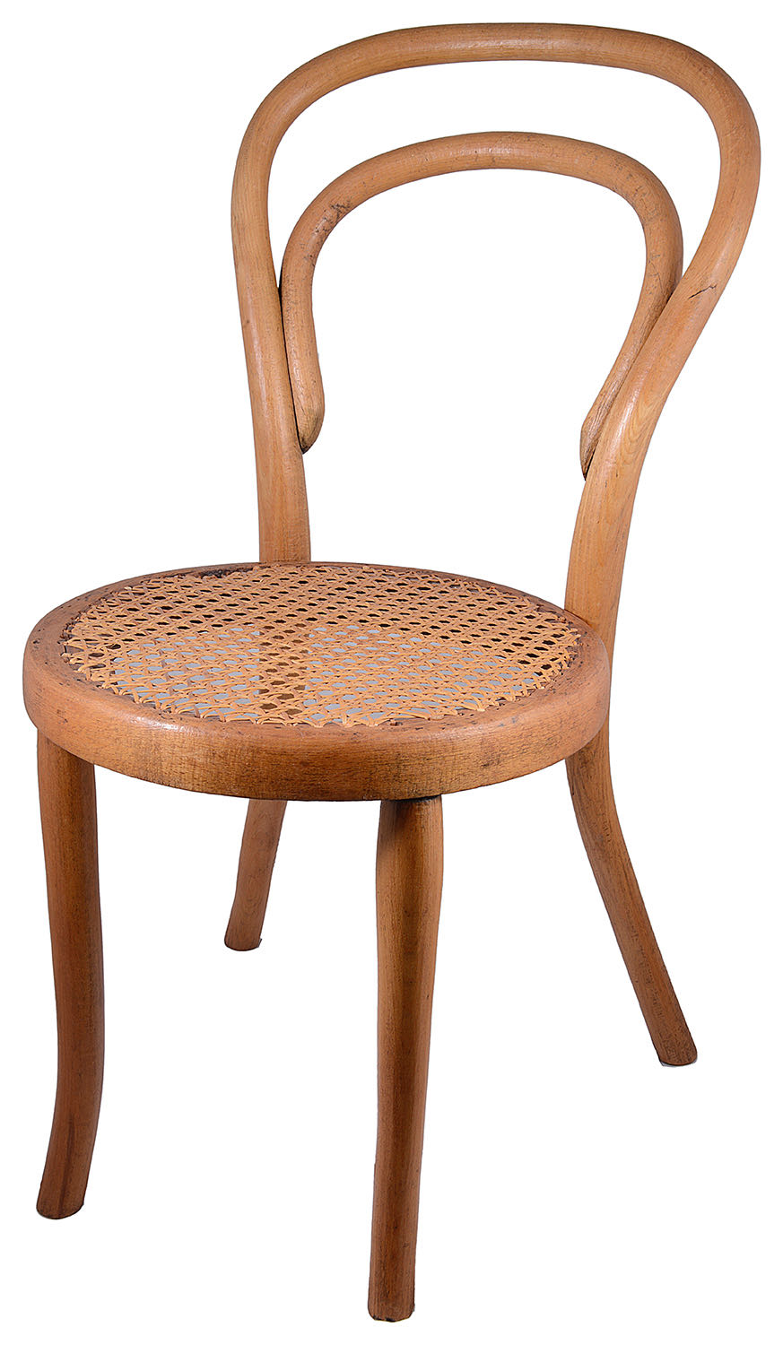 Lot 1 - Early 20th c. Dryad Cane Furniture model 1356 'Banshee' child's chair; one other