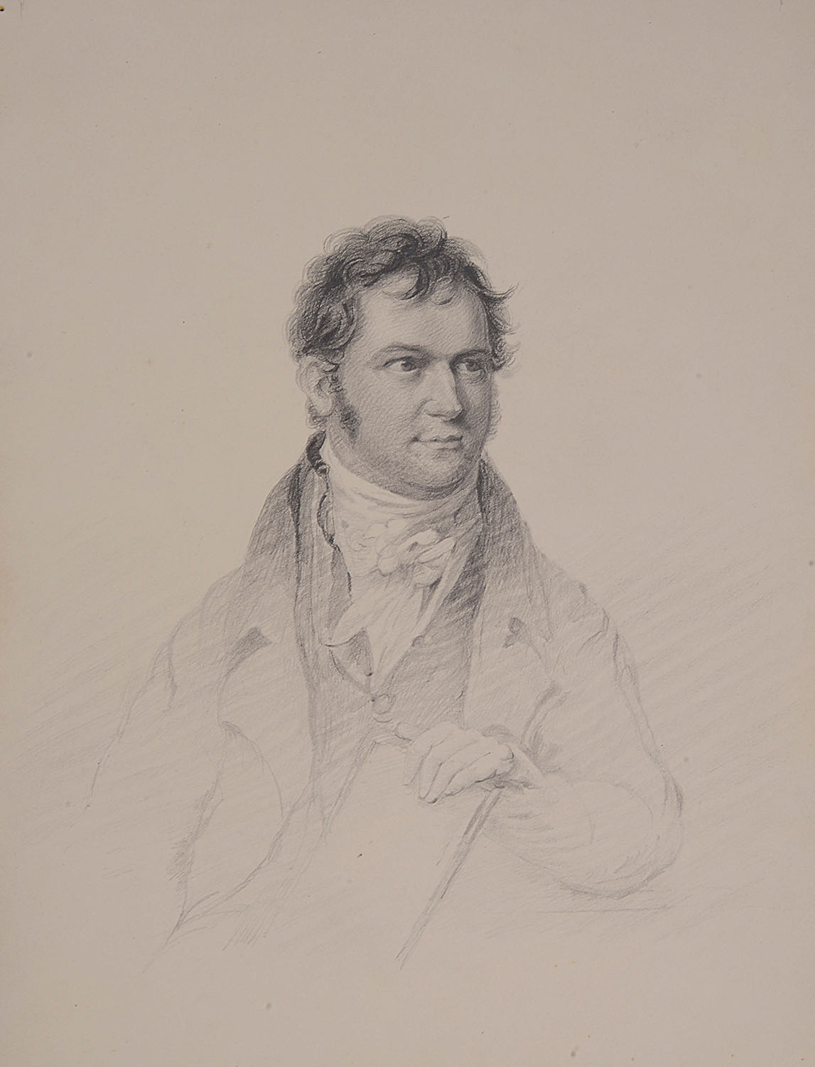 Lot 39 - Early 19th c. drawings, watercolours and etchings of portraits, botanical studies; one other