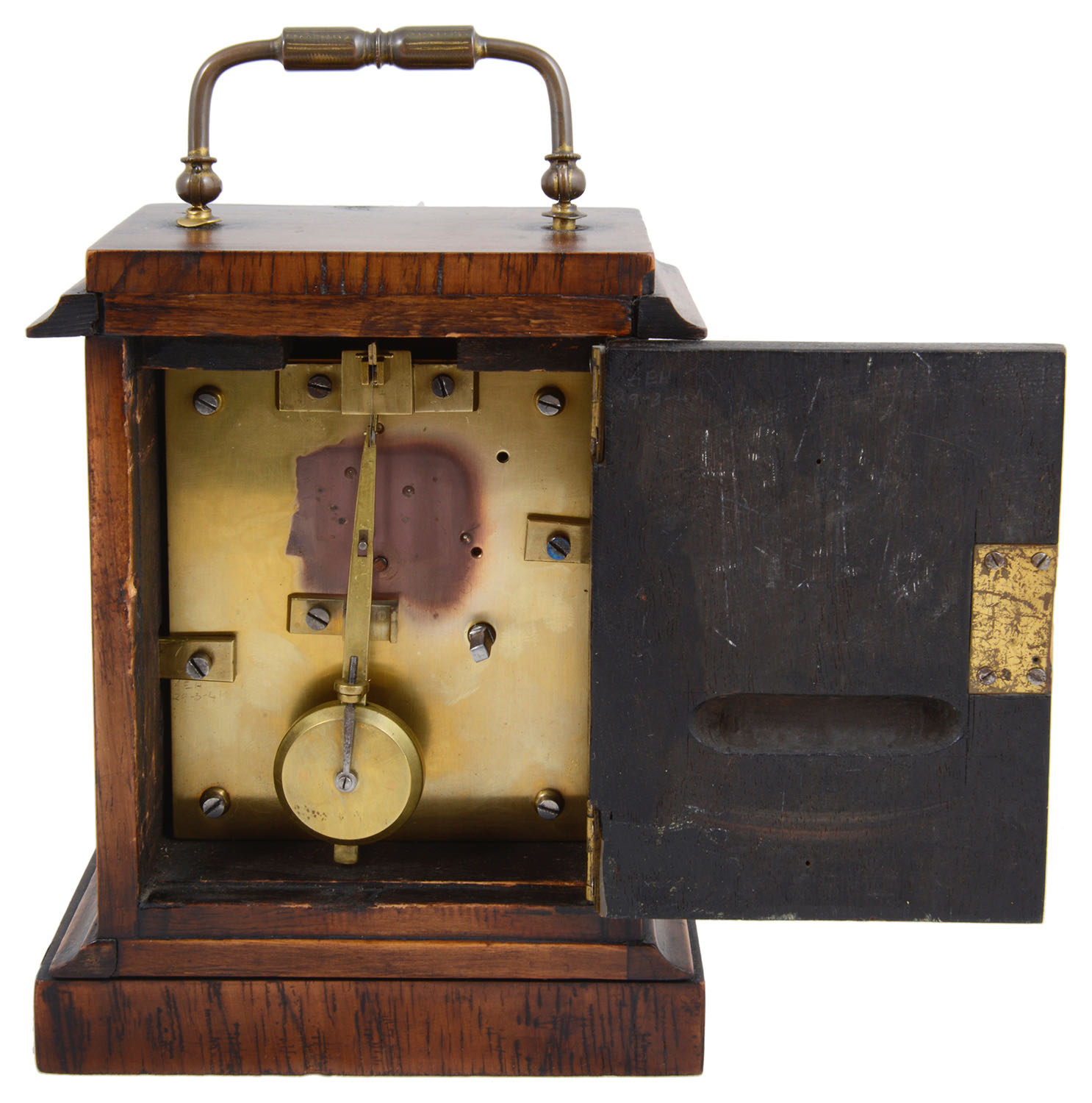 Lot 23 - A mid 19th century French rosewood cased carriage timepiece
