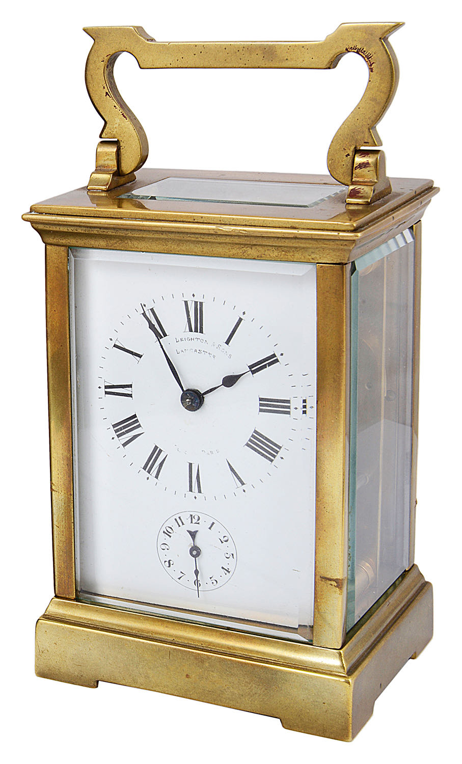 Lot 35 - An early 20th century French gilt brass four pane carriage clock