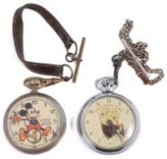 A 'Guinness Time' chrome plated keyless pocket watch; one other