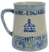 A rare early Moorcroft pottery 1902 coronation commemorative presentation mug
