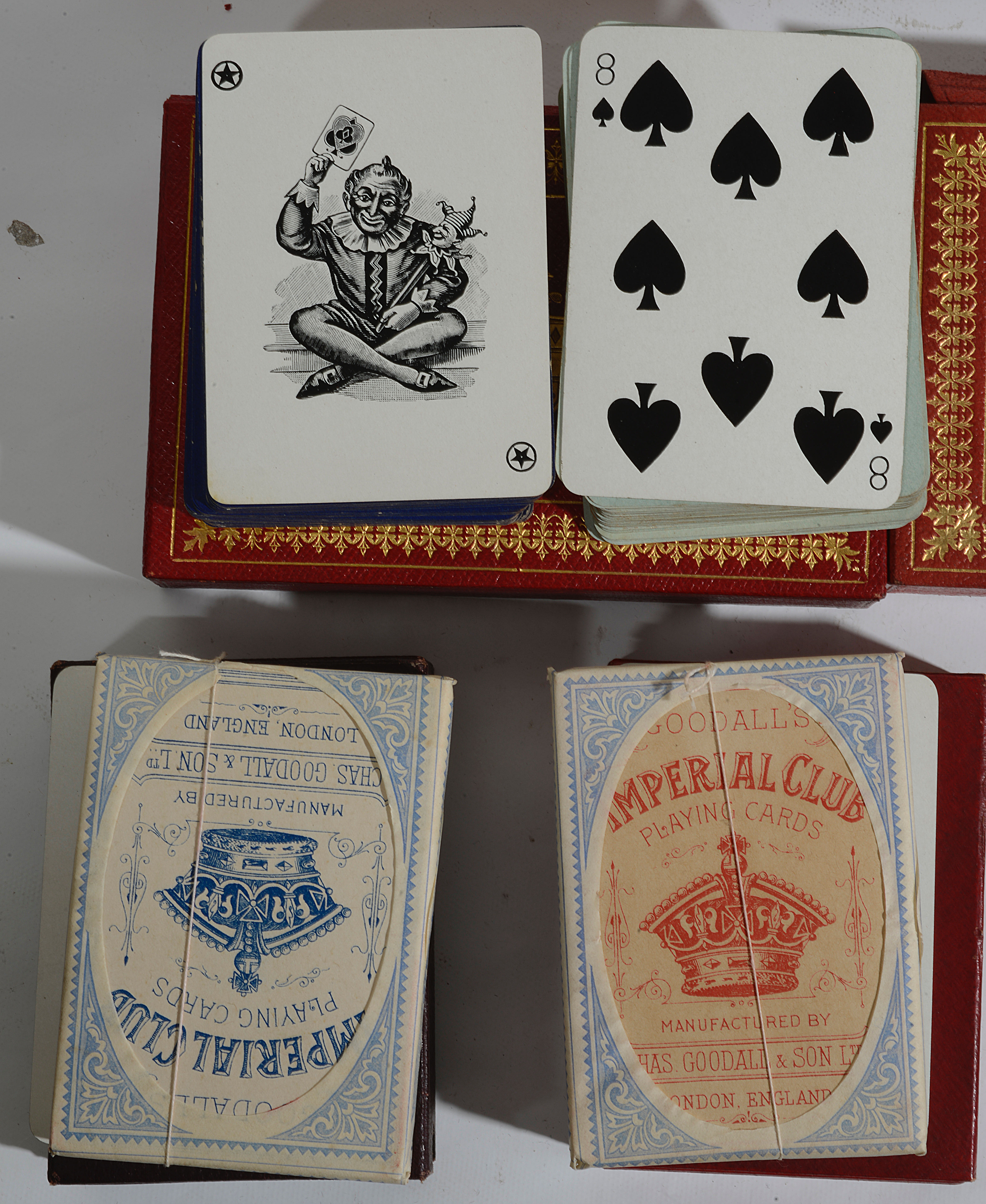 Lot 20 - Late Vict. and Ed. twin packs of playing cards by The Worshipful Company of Makers of Playing Cards
